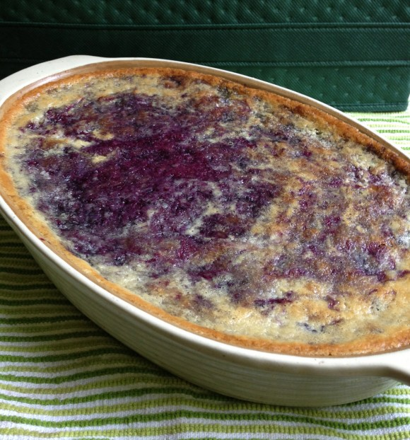Finished Blueberry Cobbler