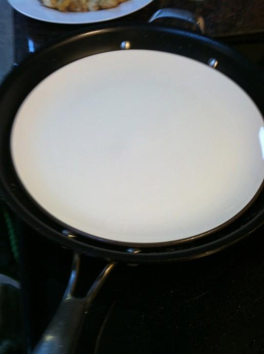 Plate in Pan