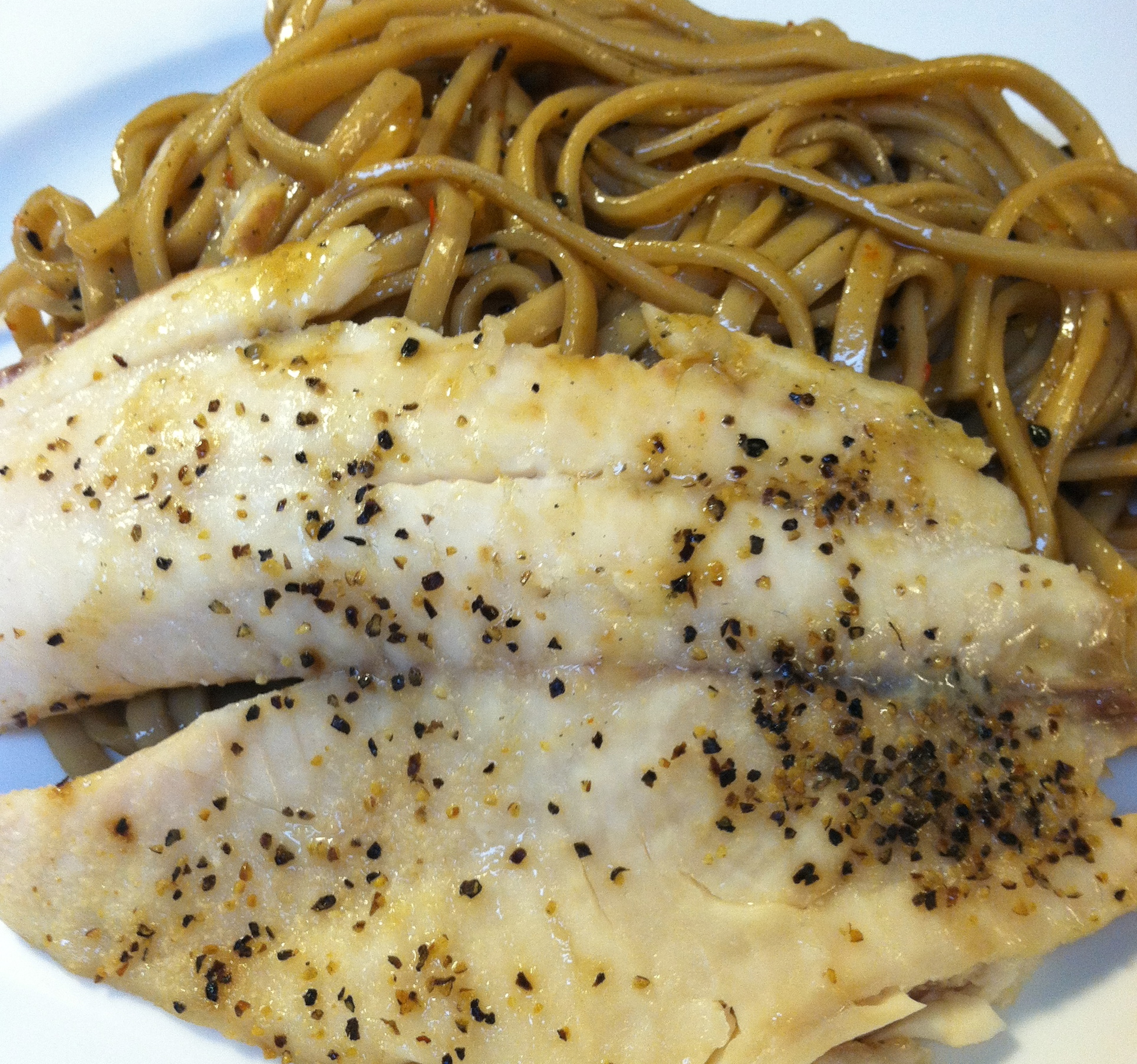 Tilapia with Sesame Noodles