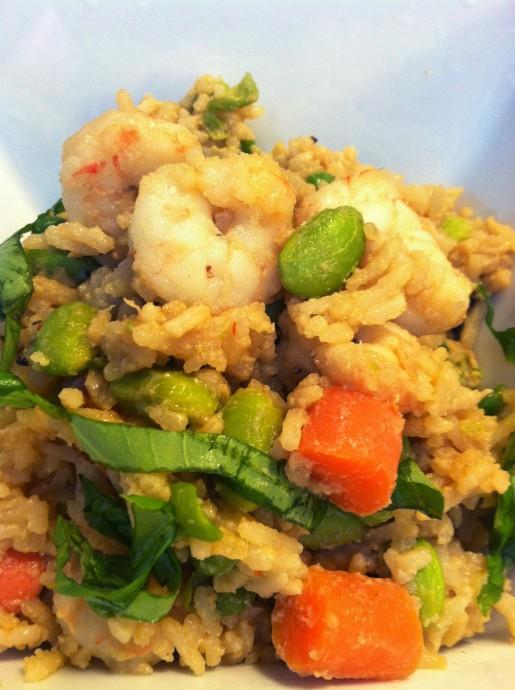 Sticky Shrimp Fried Rice Recipe