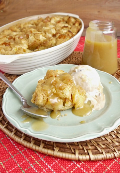 Brown Sugar Bread Pudding with Brown Sugar Caramel