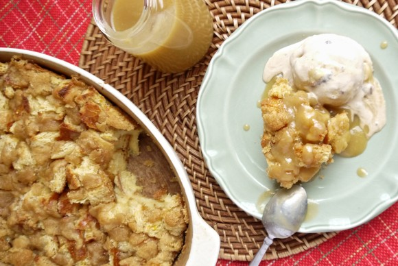 Brown Sugar Bread Pudding With Caramel Sauce Recipe