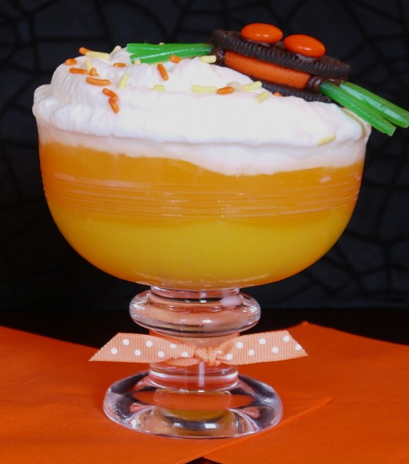 Candy Corn Pudding Parfaits Recipe