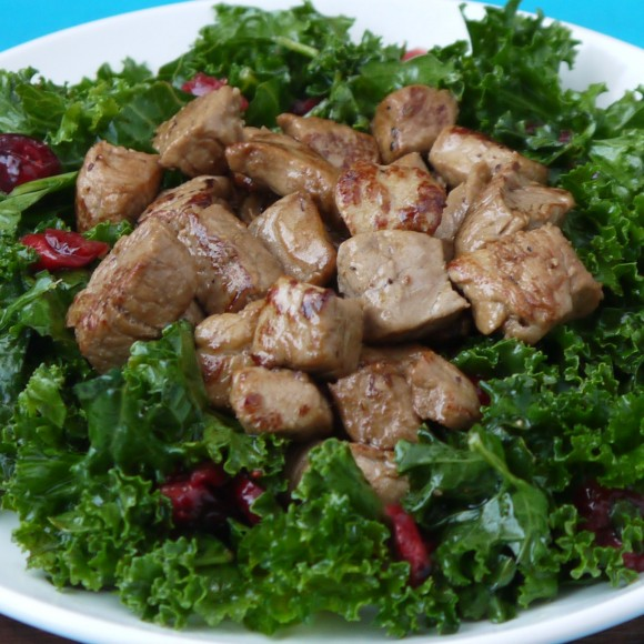Apple Cider Pork with Kale Salad Recipe