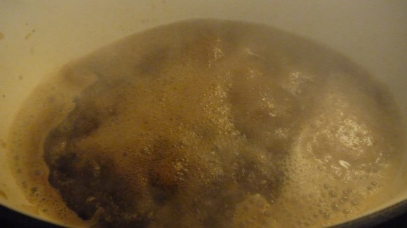 boiling braising liquid