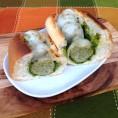 Kale Pesto Meatball Sub