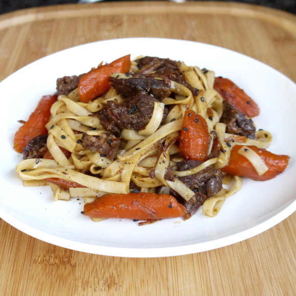 Crockpot Beef Teriyaki Noodles Recipe