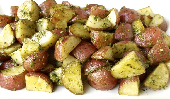 Roasted Potatoes with Kale Pesto Recipe